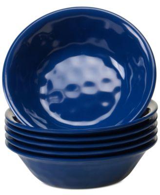 6-Pc. Cobalt Blue Melamine All-Purpose Bowl Set