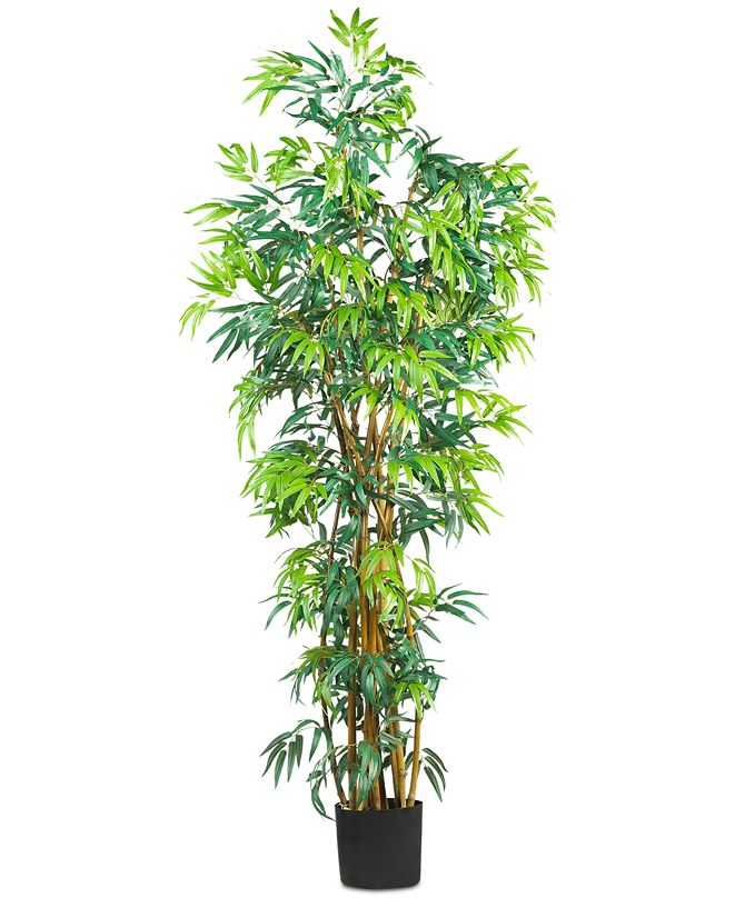 Nearly Natural 6' Artificial Curved Bamboo Tree