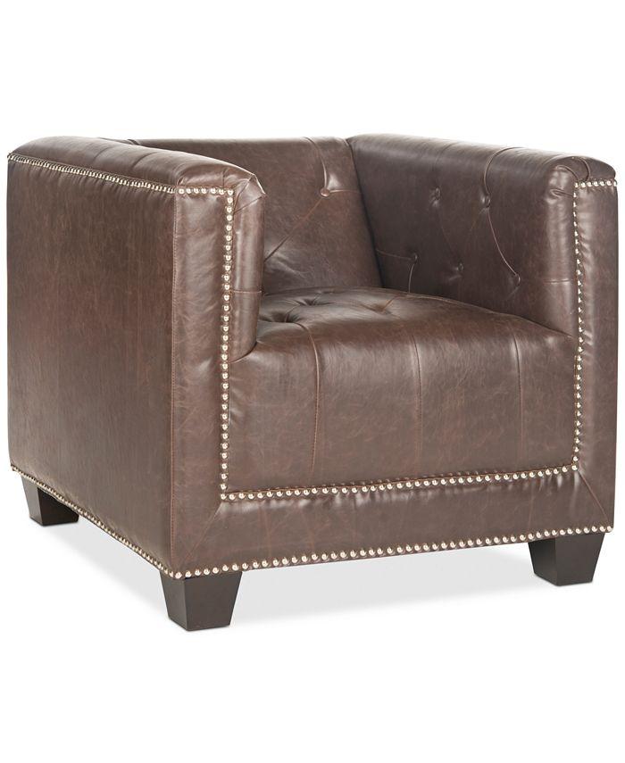 Safavieh - Goree Accent Chair, Quick Ship