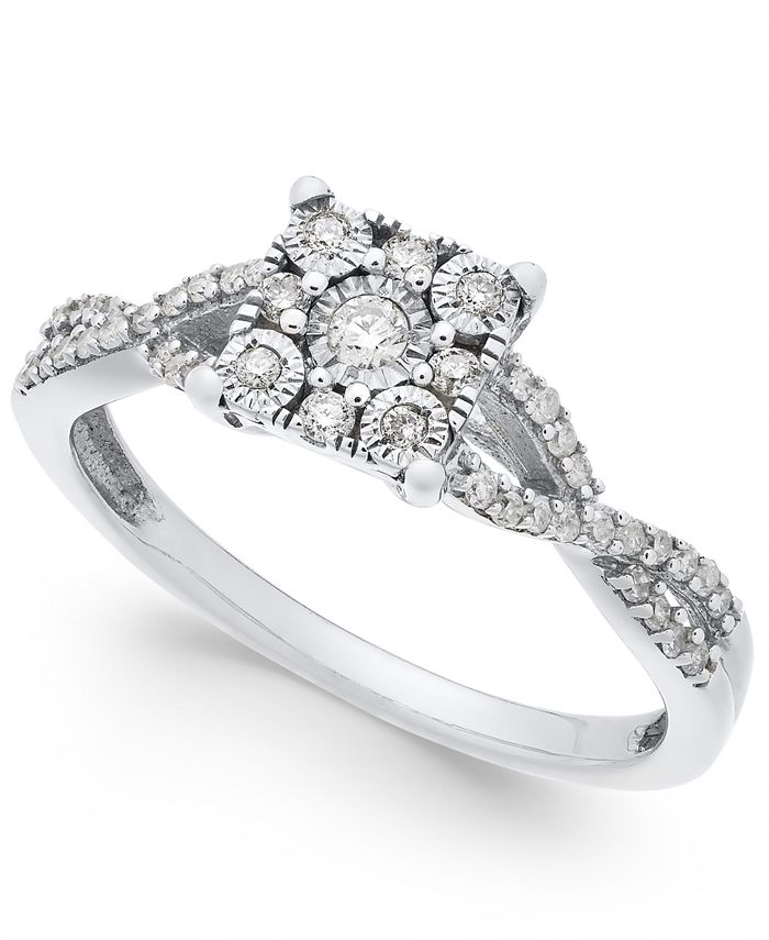 Promised Love - Princess-Cut Diamond Promise Ring (1/4-ct. t.w.) in Sterling Silver