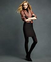 Karl Lagerfeld for Impulse Jacket, Three Quarter Sleeve Faux Leather