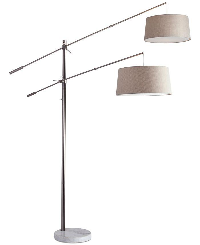 Adesso - Manhattan Two-Arm Arc Floor Lamp