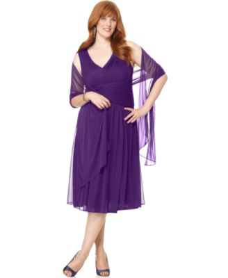 Jessica Howard Plus Size Dress, Sleeveless Ruched Pleated