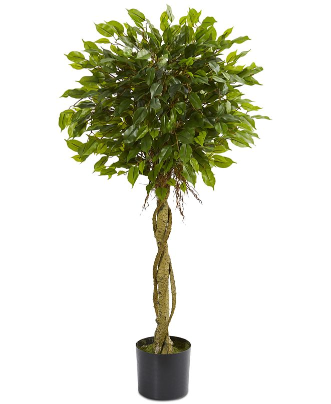 Nearly Natural 4' Ficus Topiary UV-Resistant Indoor/Outdoor Artificial Tree