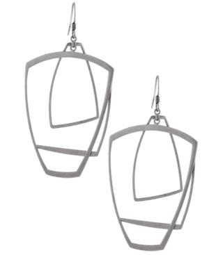BCBGeneration Earrings, Silver Tone Frame Earrings