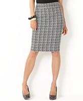 Charter Club Skirt, Tweed Plaid Pencil
