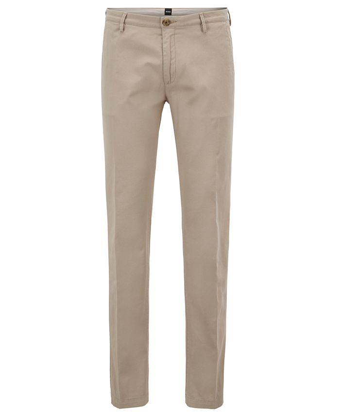 Hugo Boss - Men's Slim-Fit Stretch Chino Pants