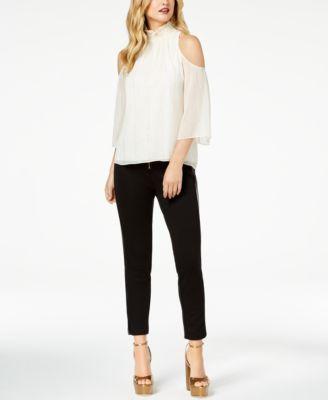 Rachel Zoe Cold-Shoulder Top, Skinny