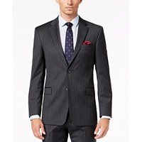 Tommy Hilfiger Mens Slim-Fit TH Flex Stripe Suit Jacket