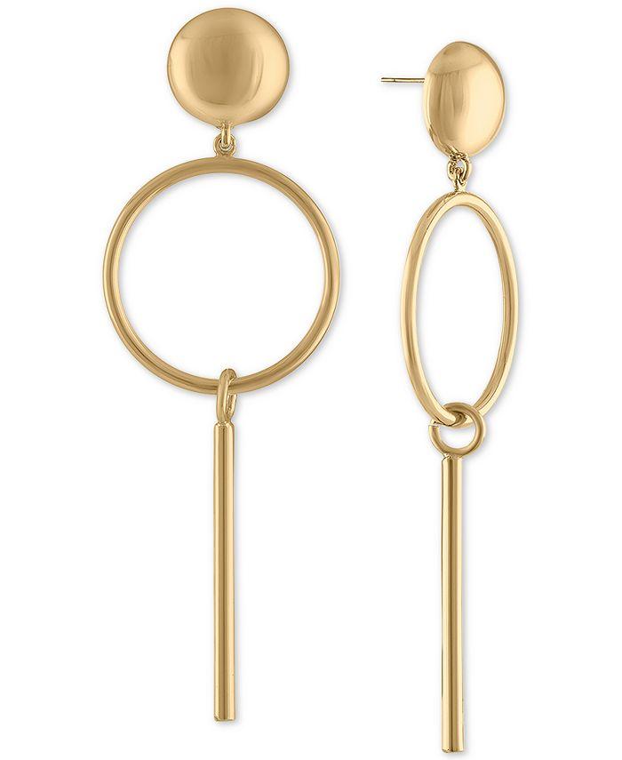 RACHEL Rachel Roy - Gold-Tone Post & Circle Drop Earrings