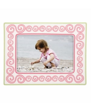 """Gorham Picture Frame, Merry Go Round Little Girl with a Curl 4"""" x 6"""""""