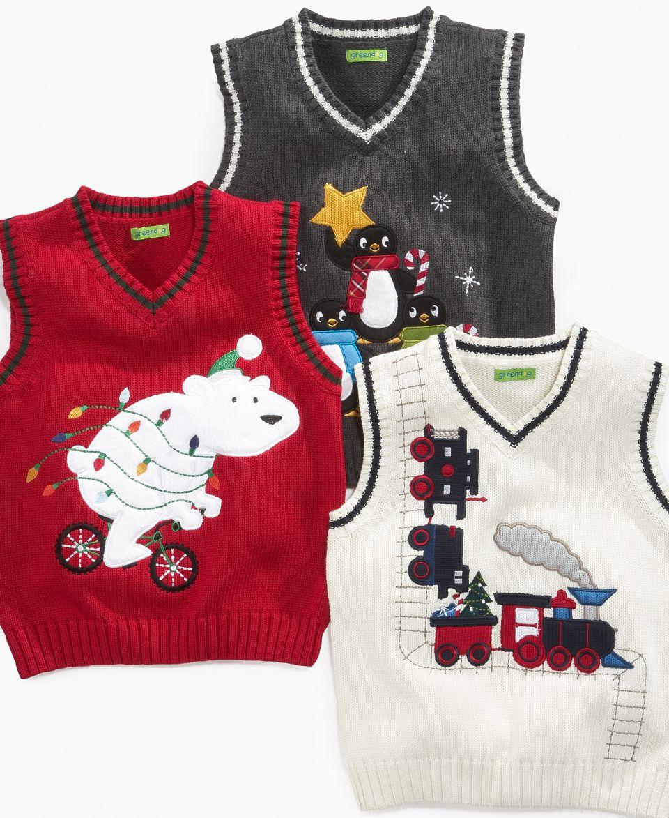 Greendog Kids Sweater Little Boys Holiday Sweater Vest On Popscreen