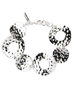 Nine West Bracelet, Silver Tone Circle Link Bracelet