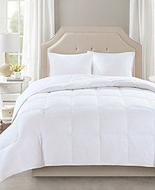 True North by Sleep Philosophy Level 2 300 Thread Count Cotton Sateen White Twin Down Comforter with 3M Scotchgard