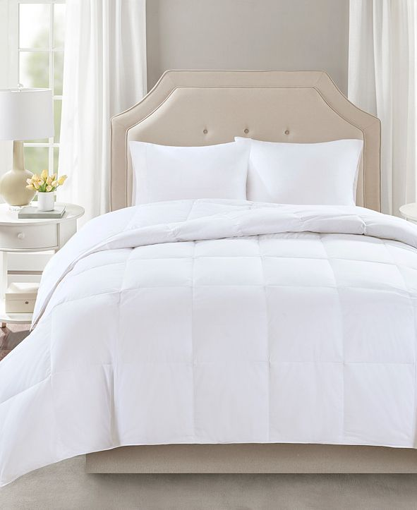 Sleep Philosophy Level 2 300 Thread Count Cotton Sateen White Twin Down Comforter with 3M Scotchgard