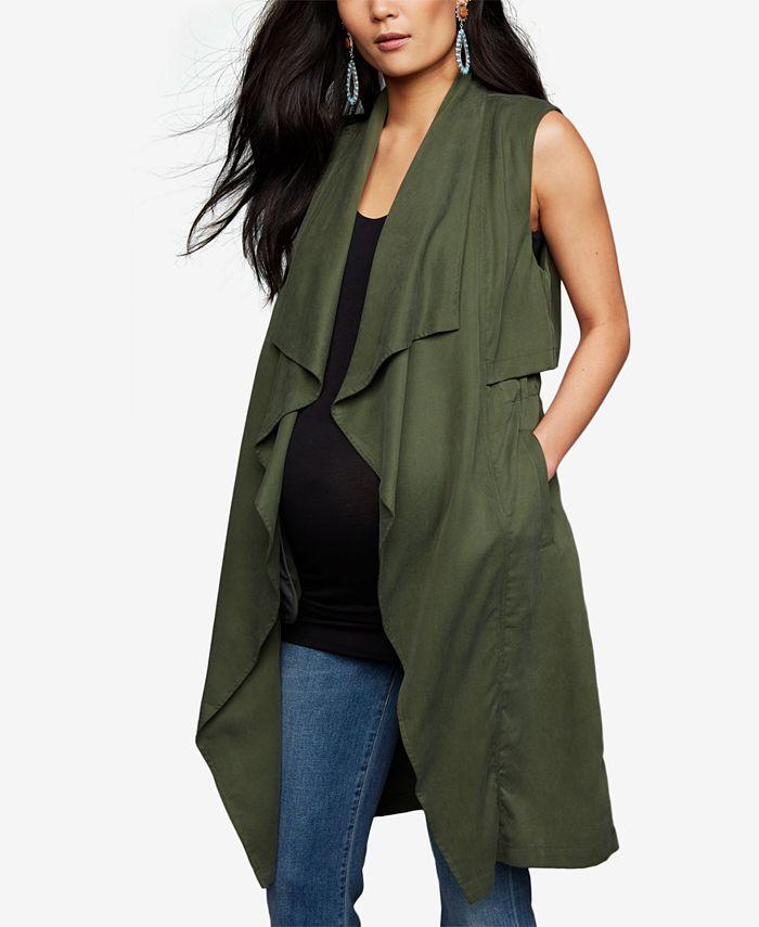 Bb Dakota Maternity Draped Vest Reviews Maternity Women Macy S