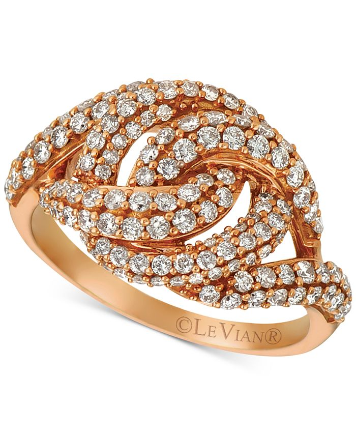 Le Vian - Diamond Knot Ring (1-1/6 ct. t.w.) in 14k Rose Gold