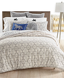 CLOSEOUT! Whim by Martha Stewart Collection Geo Clip Bedding Collection, Created for Macy's