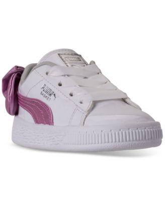 Puma Toddler Girls' Basket Bow Patent