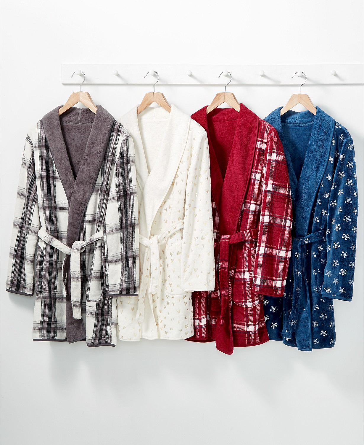 Martha Stewart Reversible Plush Robe (Multiple Colors)