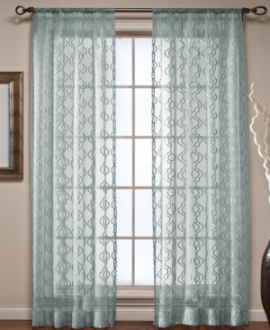 "Beacon Looms Window Treatments, Ogee Sheer Panel 50"" x 84"" Bedding"