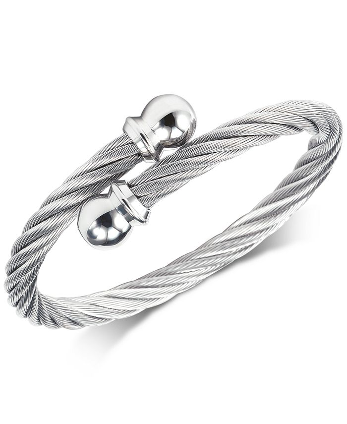 CHARRIOL - Cable Twist Bangle Bracelet in Stainless Steel