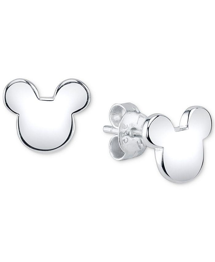 Disney - Mickey Mouse Stud Earrings in Sterling Silver
