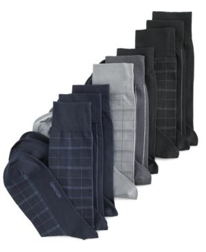 Calvin Klein Socks, Microfiber Windowpane Dress 3 Pack