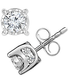 Trumiracle® Diamond Stud Earrings (3/4 ct. t.w.) in 14k Gold, Rose Gold or White Gold