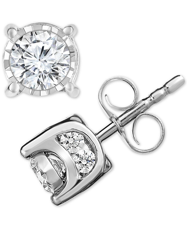 TruMiracle Diamond Stud Earrings (3/4 ct. t.w.) in 14k White