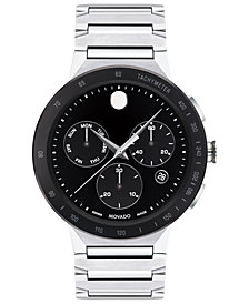 Movado Mens Sapphire Chronograph Stainless Steel Bracelet Watch 43mm