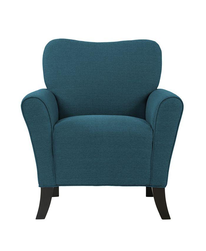 Handy Living - Sean Chair in Blue Linen