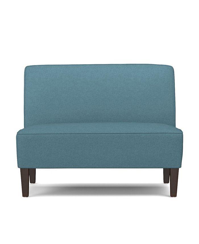 Handy Living - Bryce Settee in Blue Linen