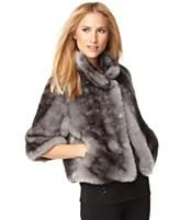 Calvin Klein Jacket, Three Quarter Sleeve Faux Fur Chubby
