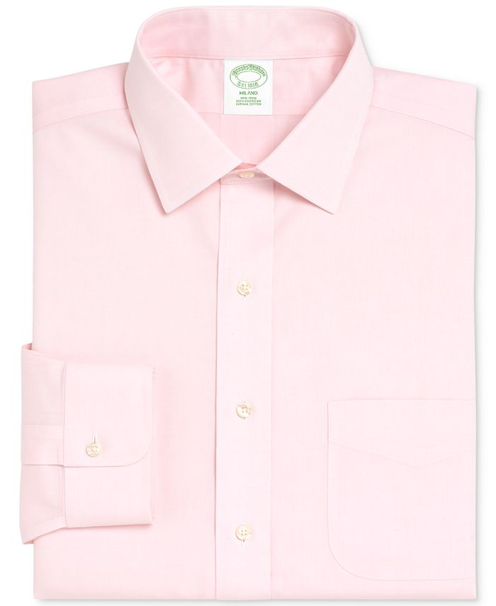 Brooks Brothers - Extra Slim-Fit Non-Iron Pinpoint Solid Dress Shirt