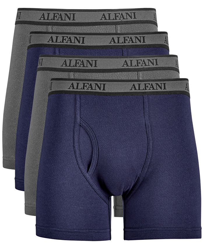 Alfani - Men's 4-Pk. Mesh Boxer Briefs