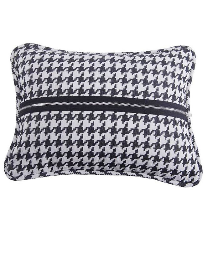 HiEnd Accents Houndstooth 17x13 Decorative Pillow