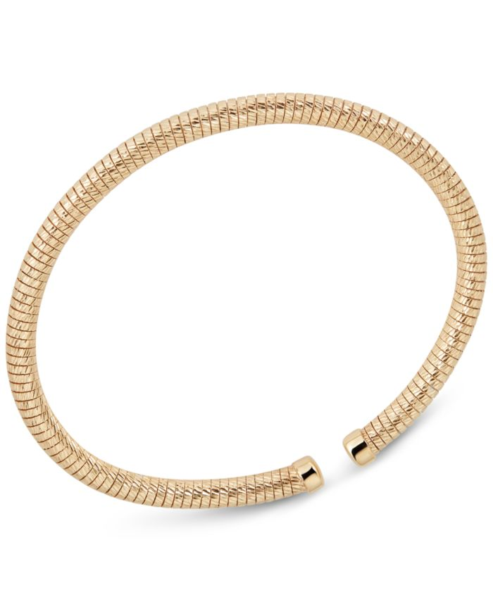 Italian Gold 3-Pc. Set Tubogas Bangle Bracelets in 14k Gold-, White Gold- & Rose Gold-Plated Sterling Silver & Reviews - Bracelets - Jewelry & Watches - Macy's
