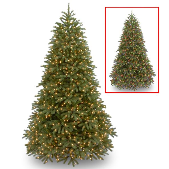 National Tree Company National Tree 7 .5' Feel Real(R) Jersey Fraser Fir Medium Hinged Tree with 1000 Dual Color(R) LED Lights + PowerConnect (TM)