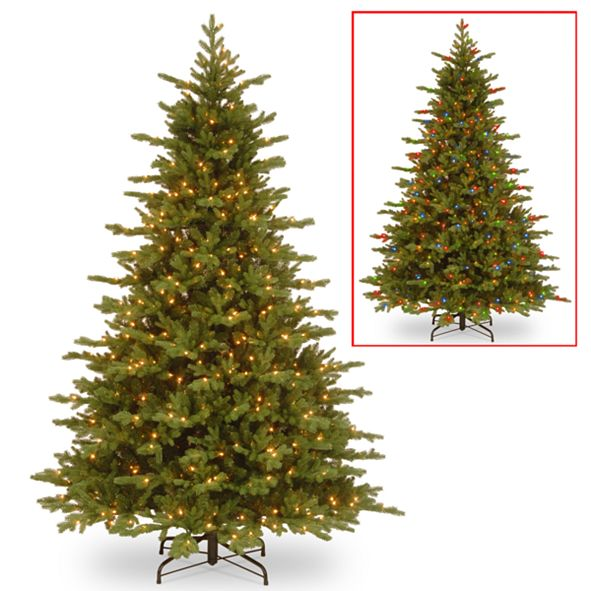 National Tree Company 7 .5' Feel Real Vienna Fir Tree with 750 Dual Color(R) LED Lights & Caps + PowerConnect