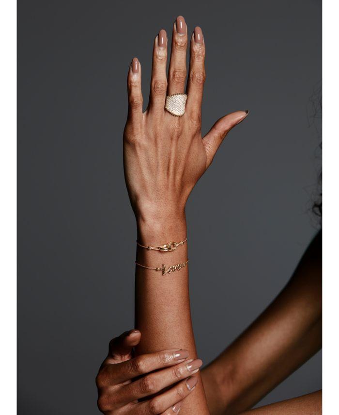 Macy's Love Script Bolo Bracelet in 10k Gold & Reviews - Bracelets - Jewelry & Watches - Macy's