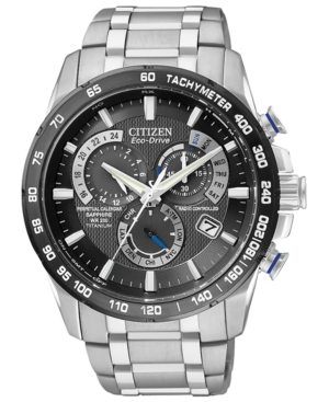 Citizen Men's Chronograph Eco-Drive Titanium Bracelet Watch 43mm AT4010-50E