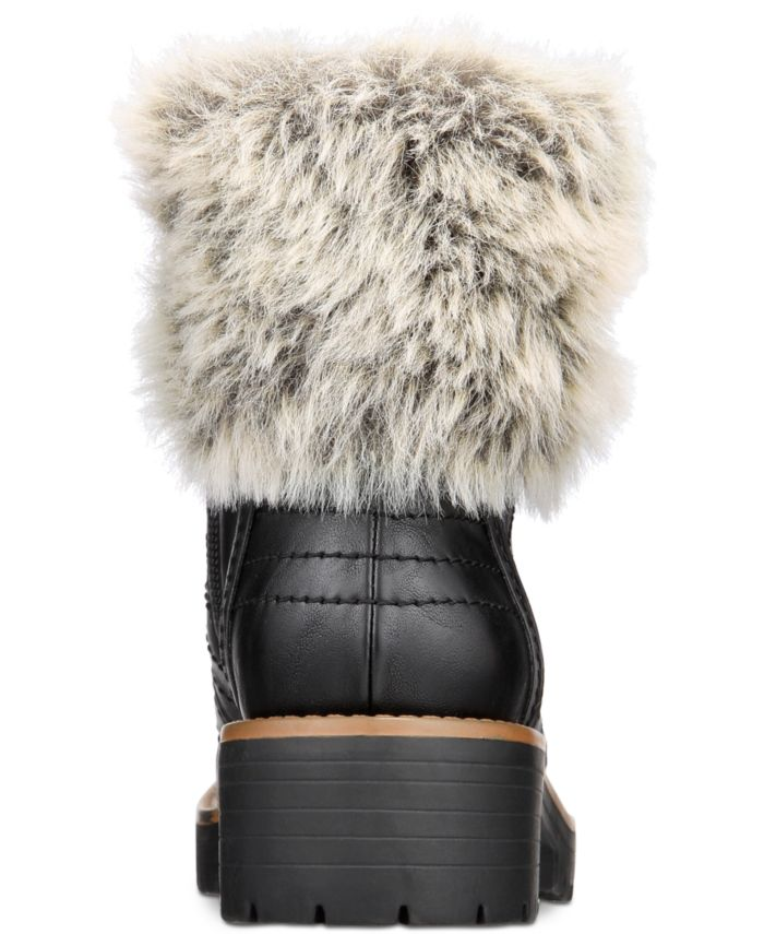 Sun + Stone Jojo Cold-Weather Lug Sole Boots, Created for Macy's & Reviews - Boots - Shoes - Macy's