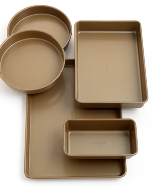 Calphalon Simply Nonstick Bakeware, 5 Piece Set Toffee
