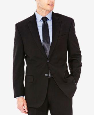 J.M Haggar Mens Sharkskin Premium Straight-Fit Stretch Suit Separate Pant