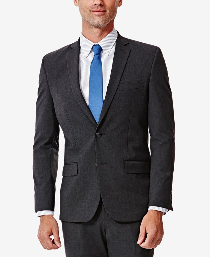 Haggar - Men's 4-Way Stretch Slim-Fit Suit Jacket