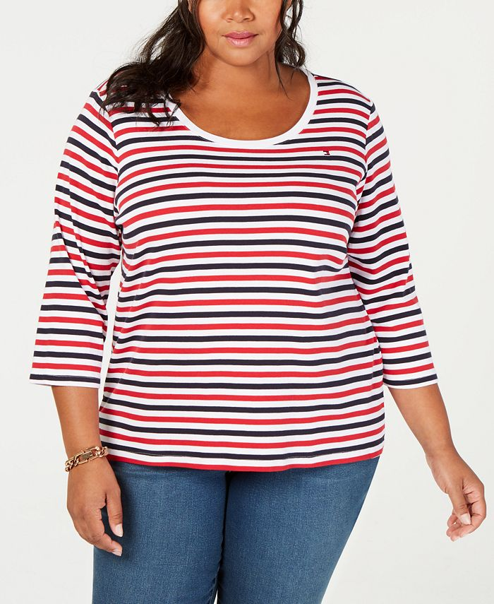 Tommy Hilfiger - Plus Size Cotton Striped Top