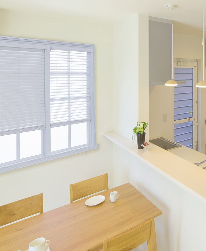"""US Shade & Shutter - Cordless 2"""" Faux Wood Blind"""