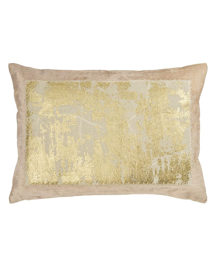 Michael Aram - Linen Distressed Metallic Lace Pillow