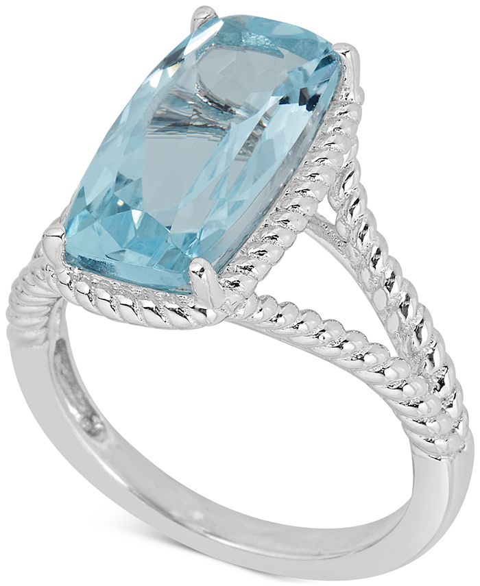 Macy's - Mystic Quartz Rope Frame Statement Ring (4 ct. t.w) in Sterling Silver (Also in Amethyst & Blue Topaz)